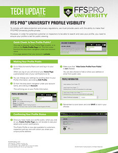 FFS PRO® University - Profile Visibility